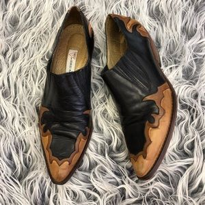 Vintage GUESS Two Toned Leather Western Booties